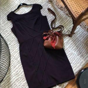 Ellen Tracy Purple Pencil Dress